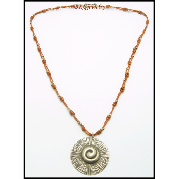 Weaving Waxed Cotton Cord Necklace Hill Tribe Silver ...