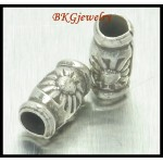 10x Wholesale Jewelry Findings Hill Tribe Silver Tube Beads [KB016]