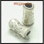 10x Hill Tribe Silver Wholesale Tube Beads Jewelry Supplies [KB024]