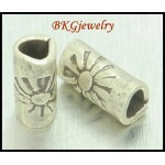 10x Wholesale Tube Beads Jewelry Supplies Hill Tribe Silver [KB036]