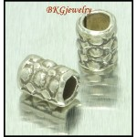 10x Wholesale Tube Beads Hill Tribe Silver Jewelry Supplies [KB069]