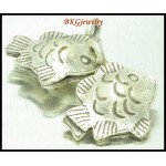 2x Hill Tribe Silver Jewelry Findings Fish Charms Wholesale [KC076]