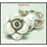 3x Jewelry Supplies Flower Charms Hill Tribe Silver Wholesale [KC003]