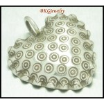 1x Jewelry Supply Wholesale Hill Tribe Silver Heart Pendant [KC013]