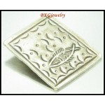 1x Jewelry Findings Hill Tribe Silver Fish Engrave Pendant [KC034]