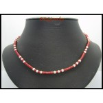 Hill Tribe Silver Bead Waxed Cotton Cord Necklace Handmade [KH180]
