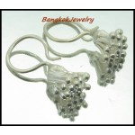 Thailand Hill Tribe Silver Handcrafted Earrings Dangle [KH017]