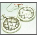 Weaving Jewelry Handcrafted Hill Tribe Silver Dangle Earrings [KH069]