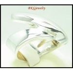 925 Sterling Silver Fashion Electroforming Shiny Ring [MR136]