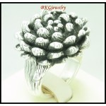 Sterling Silver Electroforming Flower Jewelry Ring [MR132]