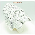 925 Sterling Silver Electroform Ring Redskin Jewelry [MR076]