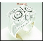 925 Sterling Silver Wholesale Electroforming Owl Band Ring [MR086]