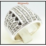 Electroforming 925 Sterling Silver Ring Marcasite Fashion [MR126]