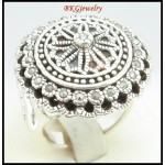 Electroforming Jewelry Marcasite Ring 925 Sterling Silver [MR127]