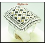 Wholesale Marcasite Ring 925 Sterling Silver Electroform [MR139]