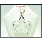 Star Shiny Pendant Wholesale 925 Sterling Silver Electroform [MP054]
