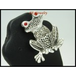 Marcasite Electroforming Fashion Frog Pendant 925 Sterling Silver [MP044]