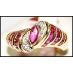Exclusive Ruby and Diamond Ring Solid 18K Yellow Gold [RF0008]