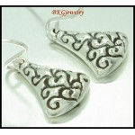 Electroform Dangle Earrings Fashion Sterling Silver [ME151]
