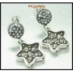 Electroform 925 Sterling Silver Marcasite Wholesale Earrings [ME088]