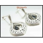 Fashion 925 Sterling Silver Electroform Semi-Precious Earrings [ME147]