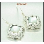 Moonstone Earrings Electroform Fashion Sterling Silver [ME143]