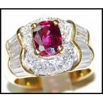 18K Yellow Gold Gorgeous Diamond and Stunning Ruby Ring [RB0020]