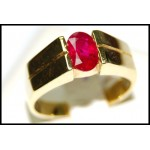18K Yellow Gold Natural Ruby Solitaire Gorgeous Ring [RS0054]