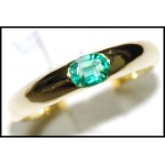 Oval Emerald Gemstone Stunning 18K White Gold Ring [RS0014]
