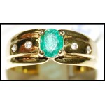 Emerald Exclusive Diamond Solitaire 18K Yellow Gold Ring [RS0113]