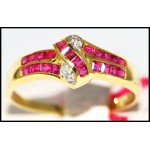 Diamond Ruby Stunning 14K Yellow Gold Gemstone Ring [RR014]