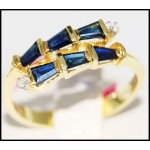 Gemstone Diamond Estate 14K Yellow Gold Blue Sapphire Ring [RR036]