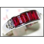 18K White Gold Ruby and Diamond Ring [RQ0031]