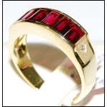 18K Yellow Gold Ruby and Diamond Exclusive Ring [RQ0028]