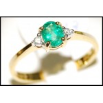Emerald Diamond Exclusive Solitaire 18K Yellow Gold Ring [RS0003]