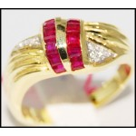 Gemstone Gorgeous Diamond 14K Yellow Gold Ruby Ring [RR026]
